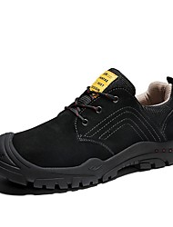 cheap -Men's Comfort Shoes Synthetics Winter Athletic Shoes Hiking Shoes Black / Khaki