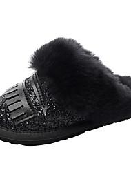 cheap -Boys' / Girls' Comfort Cowhide Slippers & Flip-Flops Little Kids(4-7ys) Sequin Black / Gray / Silver Winter