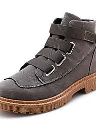 cheap -Men's Comfort Shoes Faux Leather Fall & Winter Boots Camel / Black / Red / Khaki