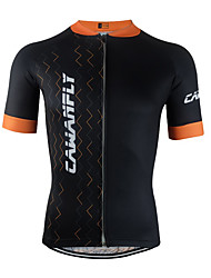 cheap -Men's Short Sleeve Cycling Jersey Black Geometic Bike Jersey Top Mountain Bike MTB Road Bike Cycling Breathable Quick Dry Back Pocket Sports Clothing Apparel / Advanced / Expert / Stretchy / Advanced