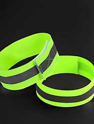 cheap -Bike Light Reflective Band Safety Reflectors Bicycle Cycling Portable Adjustable Lightweight 0 lm Green Everyday Use Cycling / Bike