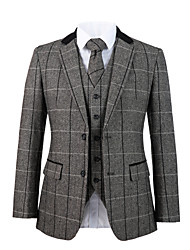 cheap -Cool gray herringbone tweed wool custom suit
