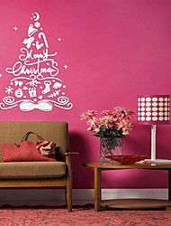 cheap -3D Christmax tree bow knot wall stickers acrylic home& Store festival decors