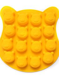Недорогие -16 полостей в форме медвежонка Винни силиконовой формы ручной работы шоколадные конфеты подарок плесень