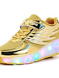 رخيصةأون -للصبيان مريح شبكة أحذية رياضية الأطفال الصغار (4-7 سنوات) الركض أسود / أبيض / أصفر الخريف