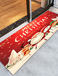 cheap -Red Christmas old man print modern non-slip bath mat non-woven / memory foam novelty bathroom