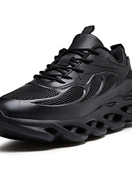cheap -Men's Comfort Shoes PU Fall & Winter Sporty Athletic Shoes Running Shoes Non-slipping Black / White