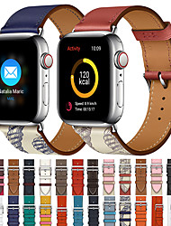 cheap -Single Tour Band for Apple Watch Series 5 4 3 2 1 Strap for iWatch Belt High Quality Genuine Leather Loop 38mm/40mm /42mm/44mm