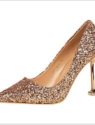 cheap -Women's Heels Stiletto Heel Pointed Toe PU Fall & Winter Black / White / Champagne