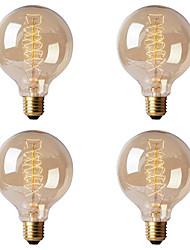 cheap -4pcs Retro Edison Light Bulb E27 220V 40W G80  Filament Vintage Ampoule Incandescent Bulb Edison Lamp