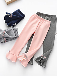 cheap -Kids Girls' Basic Solid Colored Pants Light gray