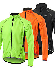 cheap -Arsuxeo Men's Cycling Jacket Bike Jacket Windbreaker Softshell Jacket Waterproof Windproof Breathable Sports Black / Orange / Green Mountain Bike MTB Road Bike Cycling Clothing Apparel Loose Bike Wear
