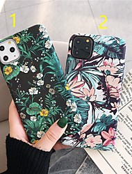 cheap -Case For Apple iPhone 11 / iPhone 11 Pro / iPhone 11 Pro Max Frosted / Pattern Back Cover Flower Plastic