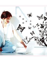 Недорогие -ay7005 сумасшедший танец бабочка летающий цветок лоза бабочка дома фон украшения съемный стикер