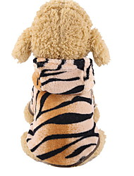 cheap -Dog Costume Hoodie Solid Colored Tiger Cosplay Cute Holiday Winter Dog Clothes Warm Khaki Costume Polyster XS S M L XL XXL