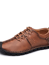 cheap -Men's Comfort Shoes Leather Fall & Winter Oxfords Brown / Dark Brown