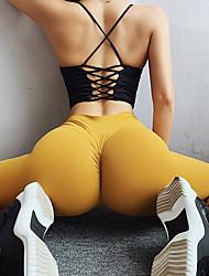 abordables -Femme Taille haute Pantalon de yoga Ruched Butt Lifting Rose foncé Orange Rouge foncé Jaune Vert Course / Running Fitness Entraînement de gym Collants Leggings Sport Tenues de Sport Séchage rapide