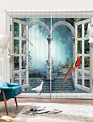 cheap -Window Outdoor World Digital Printing 3D Curtain Shading Curtain High Precision Black Silk Fabric High Quality Curtain