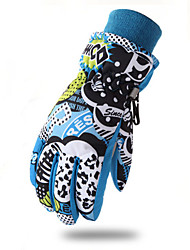 cheap -Winter Bike Gloves / Cycling Gloves Ski Gloves Breathable Warm Wearable Protective Full Finger Gloves Sports Gloves Terry Cloth Black for Adults Camping / Hiking Ski / Snowboard Climbing