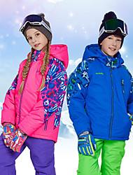 cheap -MARSNOW® Boys' Girls' Ski Jacket Camping / Hiking Winter Sports Waterproof Windproof Warm 100% Cotton Chenille Windbreaker Softshell Jacket Warm Top Ski Wear