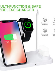 cheap -Wireless Charging Multi-function Folding Vertical 4 In 1 Wireless Charger Stand Wireless Dock for iPhone 12 Pro Max 11 Pro Xr Xs 8 Plus Samsung S21 Ultra S20 Plus Air Pods Pro Apple Pencil iWatch 6 5
