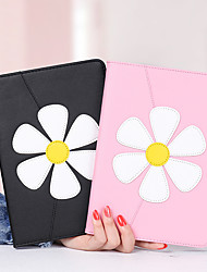 cheap -Case For Apple iPad Air / iPad Mini 3/2/1 / iPad Mini 4 Shockproof / Dustproof / Ultra-thin Full Body Cases Flower PU Leather / TPU