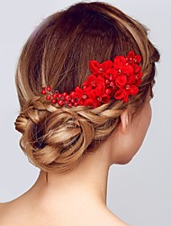 cheap -Alloy Hair Combs with Flower 1 pc Wedding / Special Occasion Headpiece