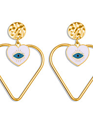 cheap -Women's Drop Earrings Fancy Eyes Heart Ethnic Fashion Resin Earrings Jewelry Gold For Stage Street Bar 1 Pair