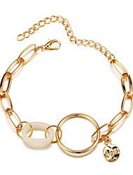 cheap -Women's Cubic Zirconia Bracelet Classic Precious Simple Casual / Sporty Fashion Alloy Bracelet Jewelry Gold For Daily Street Work
