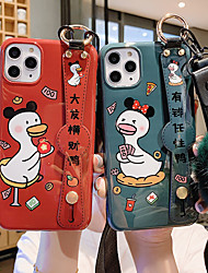 cheap -Case For Apple iPhone 11 / iPhone 11 Pro / iPhone 11 Pro Max with Stand / Ultra-thin / Pattern Back Cover Solid Colored / Cartoon TPU