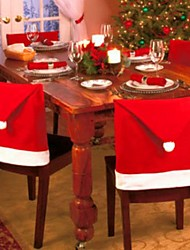 cheap -Chair Cover Christmas Non-woven Rectangular Party Christmas Decoration