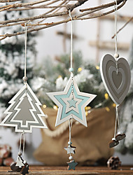 cheap -Christmas Tree Decoration Wood 1 Piece Christmas