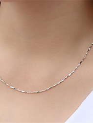 cheap -Women's Chain Necklace Chains Classic Precious Fashion Copper Silver Plated Silver 45 cm Necklace Jewelry 1pc For Daily Street Work