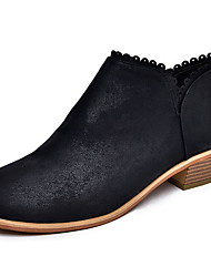 cheap -Women's Boots Chunky Heel Round Toe Suede Booties / Ankle Boots Winter Black / Brown / Beige