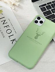 cheap -Case For Apple iPhone 11 / iPhone 11 Pro / iPhone 11 Pro Max Pattern Back Cover Solid Colored Silica Gel