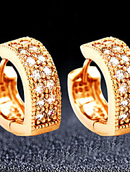 cheap -Gold Color Heart CZ Cubic Zircon Fashion Jewelry Hoop Earrings For Women Love Jewelry Gift