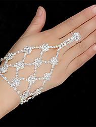 cheap -Women's Ring Bracelet / Slave bracelet Bracelet Tennis Chain Flower Classic European Fashion Elegant Rhinestone Bracelet Jewelry Silver For Wedding Party Engagement Gift Daily