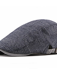 cheap -Men's Beret Hat Polyester Basic - Solid Colored Fall Black Light gray Navy Blue
