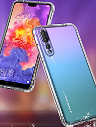 cheap -Huawei P20 Mobile Shell Silicone Transparent Set Dust P20 PRO All Inclusive Anti-fall Airbag Soft Shell 6D Transonic Hole New