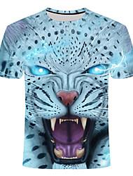 cheap -Men's Daily T-shirt - Animal Light Blue