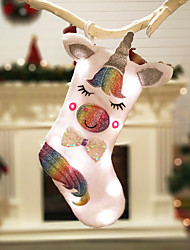 cheap -Unicorn Christmas Socks Gift Bag Holiday Lamp Lantern Light Burner  Christmas Decorations LED Christmas Figurines / Christmas Ornaments / Decorative Objects Cartoon / Decorative / Lovely 1pc