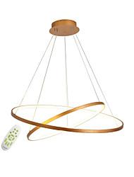 Недорогие -современная металлическая простота вела люстры 60/40 два круга закрытый свет для офисной гостиной спальня ресторан подвесные светильники