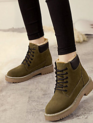 cheap -Women's Boots Low Heel Round Toe Stitching Lace Suede Booties / Ankle Boots Vintage / Casual Spring &  Fall / Fall & Winter Black / Green