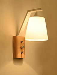 cheap -Modern Wall Lamps & Sconces Living Room / Bedroom Wood / Bamboo Wall Light 110-120V / 220-240V 40 W