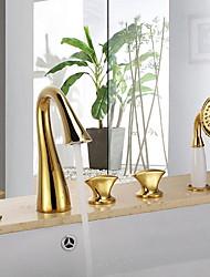 abordables -Robinet de douche - contemporain Montage mural Soupape céramique Bath Shower Mixer Taps