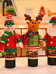 cheap -Christmas Household Items Doll Wine Bottle Set Holiday Decoration