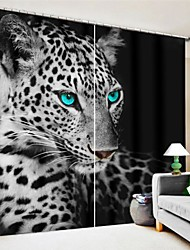 cheap -Blue Eye Panther Digital Printing 3D Curtain Blackout Curtain High Precision Black Silk Fabric High Quality Curtain
