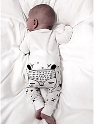 Χαμηλού Κόστους -Μωρό Αγορίστικα Ενεργό / Βασικό Στάμπα Στάμπα Παντελόνι Λευκό