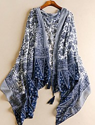 cheap -Women's Active / Basic Cotton / Linen Rectangle Scarf - Print