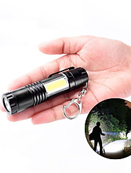 cheap -LED Pocket Flashlight Outdoor Lights Portable Mini Torch Keychain with COB Side Light for Hiking Fishing Mountaineering